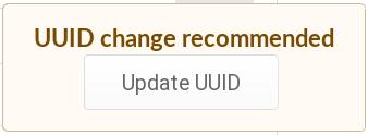 Change UUID